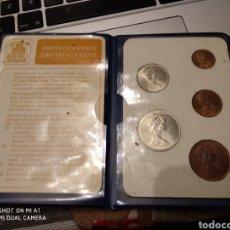 Monedas antiguas de Europa: CARTERA OFICIAL INGLESA 1968 1971. Lote 152020756