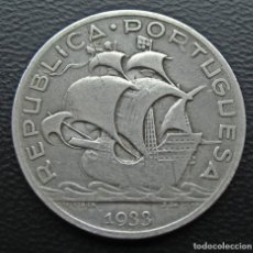 Monedas antiguas de Europa: PORTUGAL 5 ESCUDOS 1933 PLATA-SILVER. Lote 152221958
