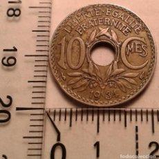 Monedas antiguas de Europa: MONEDA FRANCIA. 10 CENTIMOS 1934.. Lote 152585834