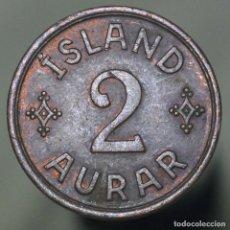 Monedas antiguas de Europa: 5 AURAR ISLANDIA 1942. Lote 152590458