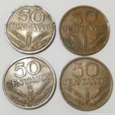 Monedas antiguas de Europa: 4 MONEDAS DE 50 CENTAVOS DE PORTUGAL. Lote 152627553
