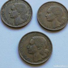 Monedas antiguas de Europa: ## FRANCIA 20 FRANCOS 1950,1951 Y 1952 ( 1950 VARIANTE TRES PLUMAS Y GEORGES GUIRAUD ##. Lote 152676110