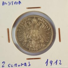 Monedas antiguas de Europa: AUSTRIA: 2 CORONAS 1912. Lote 152976330