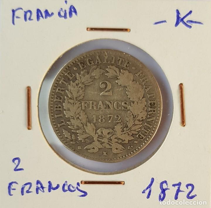 FRANCIA: 2 FRANCOS 1872 -K- (Numismática - Extranjeras - Europa)