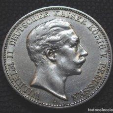 Monedas antiguas de Europa: ALEMANIA - PRUSIA 3 MARCOS 1909-A (BERLIN) GUILLERMO II REF. 2 -PLATA-. Lote 153122130