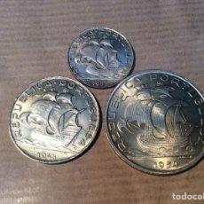 Monedas antiguas de Europa: PORTUGAL 3 MONEDAS DE PLATA SIN CIRCULAR. Lote 153185768