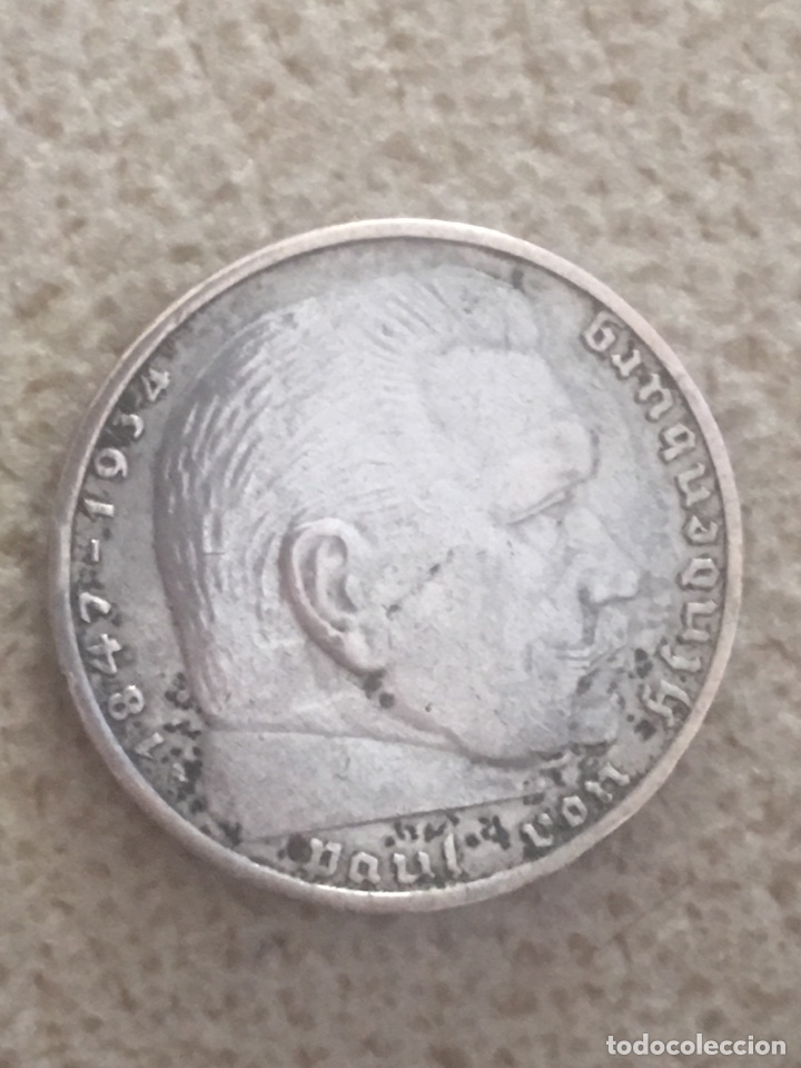 Monedas antiguas de Europa: 2 marcos plata 1939 III reich - Foto 2 - 159620645