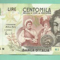 Monedas antiguas de Europa: ITALIA: BILLETE DE 100000 LIRE 1994. CARAVAGGIO. Lote 153444942