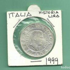 Monedas antiguas de Europa: PLATA-ITALIA 1 LIRA 1999. HISTORIA DE LA LIRA. 14,6 GR DE LEY 0,835. Lote 153466246