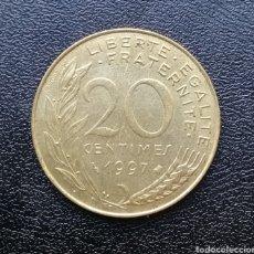Monedas antiguas de Europa: MONEDA 20 CÉNTIMOS DE FRANCIA, AÑO 1997. Lote 153521882