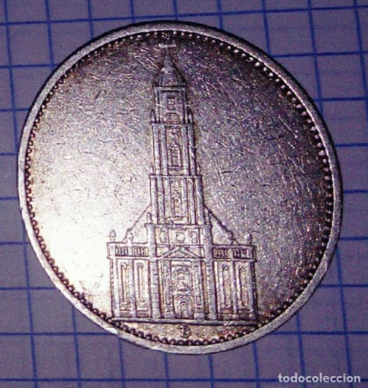 Monedas antiguas de Europa: ALEMANIA/III REICH. 5 REICHSMARK 1935 D. PLATA. - Foto 2 - 154109654
