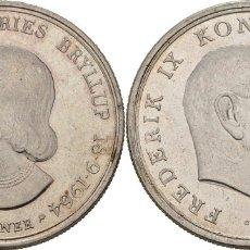 Monedas antiguas de Europa: DINAMARCA 5 CORONAS (KRONER) PLATA 1964 CONM. BODA PRINCESA ANNE MARIE. Lote 144025120