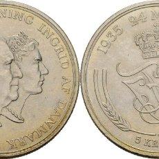 Monedas antiguas de Europa: DINAMARCA 5 CORONAS (KRONER) PLATA 1960 CONM. BODAS DE ORO S/C. Lote 155270861