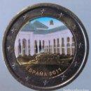 Monedas antiguas de Europa: ESPAÑA - MONEDA 2 EUROS 2011 COLOREADA - PATIO DE LOS LEONES, GRANADA. Lote 157441714