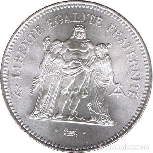 FRANCIA 50 FRANCOS PLATA 1977 HERCULES - FRANCE 50 FRANCS SILVER 1977 (Numismática - Extranjeras - Europa)