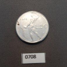 Monedas antiguas de Europa: ITALIA 50 LIRAS 1978. Lote 154670978
