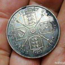 Monedas antiguas de Europa: GRAN BRETAÑA 1 FLORIN 1887 – PLATA – VICTORIA BUSTO JUBILEO 1887 FLORÍN EBC. Lote 154773170