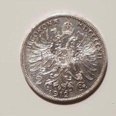 Monedas antiguas de Europa: 2 CORONAS PLATA 1912 IMPERIO AUSTROHÚNGARO. Lote 154869910
