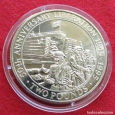 Monedas antiguas de Europa: GUERNSEY 2 LIBRAS 1995 LIBERACIÓN. Lote 155505318