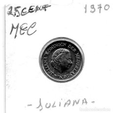 Monedas antiguas de Europa: MEC - HOLANDA 25 CENT 1970 - A6. Lote 155672006