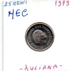 Monedas antiguas de Europa: MEC - HOLANDA 25 CENT 1973 - A8. Lote 155672806