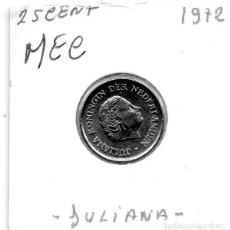 Monedas antiguas de Europa: MEC - HOLANDA 25 CENT 1972 - A7. Lote 155673610