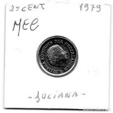 Monedas antiguas de Europa: MEC - HOLANDA 25 CENT 1979 - A10. Lote 155674774