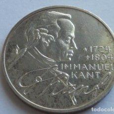 Monnaies anciennes de France: MONEDA D PLATA D 5 MARCOS D ALEMANIA DE 1974 D CECA MUNICH, PESA 11,2 GRS IMMANUEL KANT. Lote 155678142
