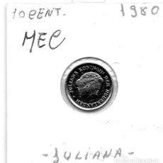 Monedas antiguas de Europa: MEC - HOLANDA 10 CENT 1980 - A4. Lote 155682034