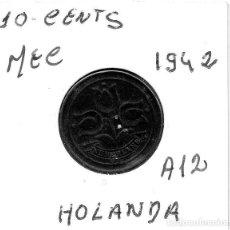 Monedas antiguas de Europa: MEC - HOLANDA 10 CENT 1942 - A12. Lote 155683370