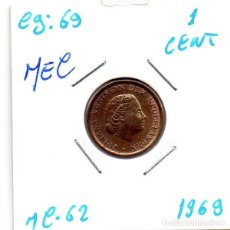 Monedas antiguas de Europa: MEC - HOLANDA 1 CENT 1968 - A14. Lote 155686074