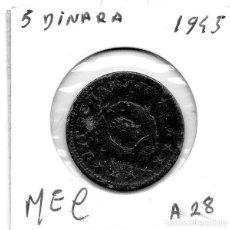 Monedas antiguas de Europa: MEC -YUGOSLAVIA 5 DINARA 1945 - A28. Lote 155689446