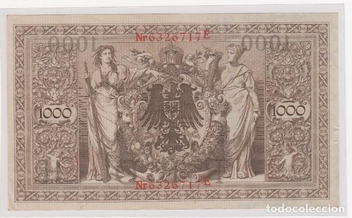 Monedas antiguas de Europa: bonito billete alemania (berlin)1000 mark 21-abril-1910 serie en rojo nº 6326717e . s/c - Foto 2 - 155694438