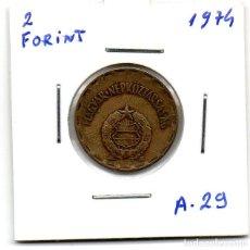 Monedas antiguas de Europa: MEC - UNGRYA / 2 FORINT 1974 / - A29. Lote 155696466