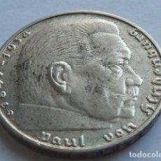 Monedas antiguas de Europa: MONEDA DE PLATA 2 MARCOS 1937 D, CECA DE MUNICH, ALEMANIA NAZI, MARISCAL PAUL VON HINDENBURG . Lote 155744814