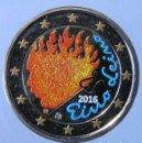Monedas antiguas de Europa: FINLANDIA 2016 - MONEDA 2 EUROS COLOR - 90 AÑOS DEL FALLECIMIENTO DE EINO LEINO. Lote 155852942