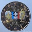 Monedas antiguas de Europa: FRANCIA 2013 - MONEDA 2 EUROS COLOR - 50 ANV. FIRMA DEL TRATADO DEL ELÍSEO. Lote 155854554