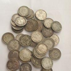 Monedas antiguas de Europa: COLECCIÓN DE 20 MONEDAS DE PLATA GRAN BRETAÑA 3 PENCE DIFERENTES AÑOS. Lote 205801146