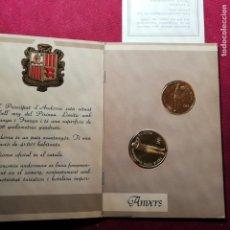 Monedas antiguas de Europa: CARTERA DOS MONEDAS ANDORRA TENIS DISCIPLINA OLIMPICA 1987 PLATA. 20 Y 2 DINERS. Lote 155940042