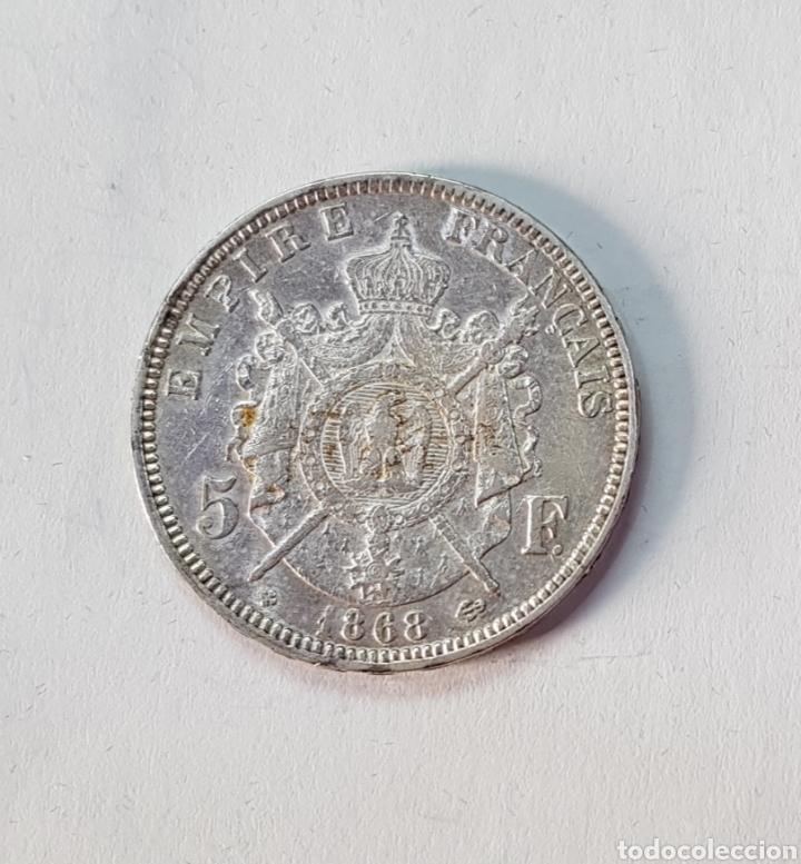 Monedas antiguas de Europa: Francia Napoleón III 5 Francos -BB- 1868 (MD) - Foto 2 - 156755776