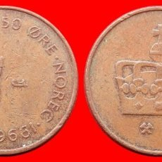 Monedas antiguas de Europa: 50 ORE 1996 NORUEGA 09700T COMPRAS SUPERIORES 40 EUROS ENVIO GRATIS. Lote 156821206