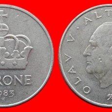 Monedas antiguas de Europa: 1 CORONA 1983 NORUEGA 09707T COMPRAS SUPERIORES 40 EUROS ENVIO GRATIS. Lote 156822310