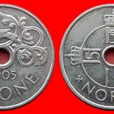 Monedas antiguas de Europa: 1 CORONA 2005 NORUEGA 09708T COMPRAS SUPERIORES 40 EUROS ENVIO GRATIS. Lote 156822466