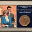 Monedas antiguas de Europa: CARTERA CONMEMORATIVA 25 PENCE 1981 BODA PRINCIPE DE GALES Y LADY DIANA DIPTICO DESPLEGABLE . Lote 156894162