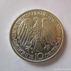 Monedas antiguas de Europa: ALEMANIA . 10 MARCOS DE PLATA DEL AÑO 1987 . SIN CIRCULAR. Lote 156995352