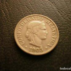 Monedas antiguas de Europa: SUIZA 10 RAPPEN 1903. Lote 157111066