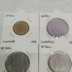 Monedas antiguas de Europa: LOTE 4 MONEDAS SAN MARINO. SIN CIRCULAR.. Lote 157122653