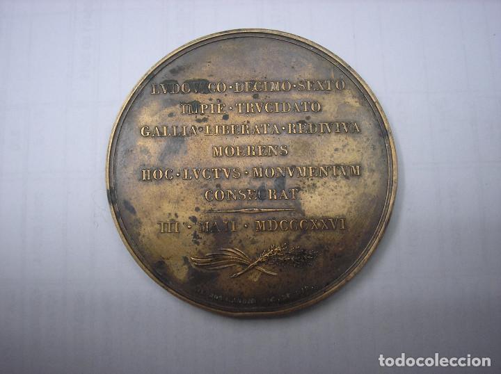 Monedas antiguas de Europa: FRANCIA, MEDALLA DE BRONCE DEL REY CARLOS X EN HOMENAJE AL REY LUIS XVI - Foto 2 - 157341062