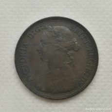 Monedas antiguas de Europa: MEDIO PENIQUE (1885) DE VICTORIA DE GRAN BRETAÑA. Lote 157676246