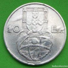 Monedas antiguas de Europa: PORTUGAL - REPUBLICA PORTUGUESA - 1955 - 10 ESCUDOS - PLATA. Lote 157866778